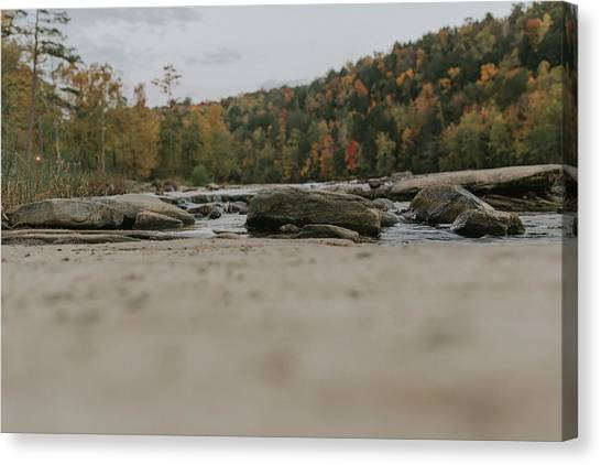 Rocks On Cumberland River Canvas Print