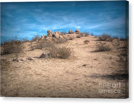 Rocks On The Hill Canvas Print