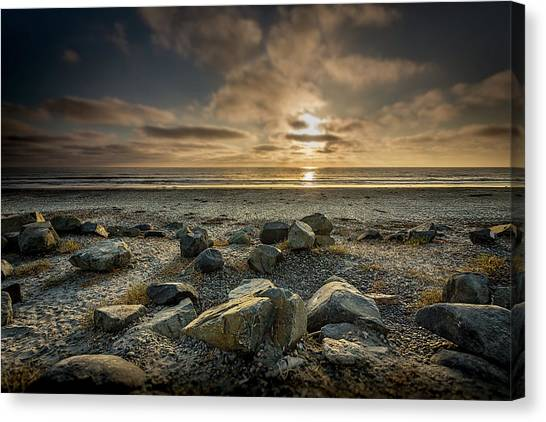 Surf Lifestyle Canvas Print - Rocks by Peter Tellone