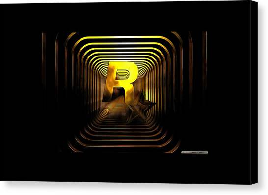 Grand Theft Auto Canvas Print - Rockstar For You by Riki Romario