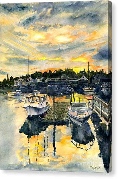 Rocktide Sunset Canvas Print