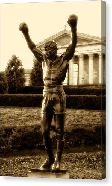 Sly Canvas Print - Rocky - Heart Of A Champion  by Bill Cannon