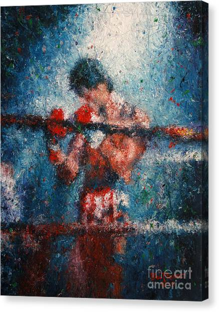 Sylvester Stallone Canvas Print - Rocky 3 - Alone In The Ring by Bill Pruitt