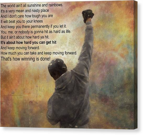 Rocky Balboa Inspirational Quote Canvas Print