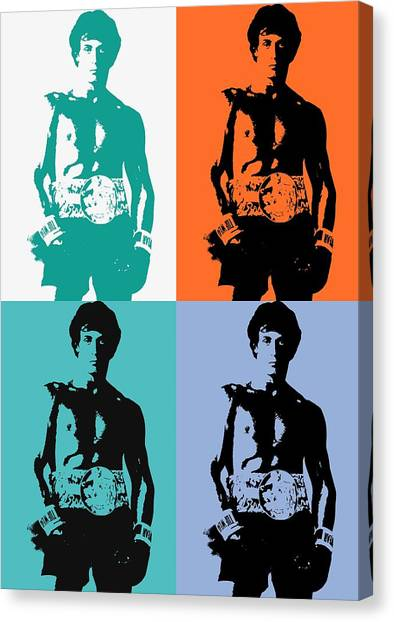 Sylvester Stallone Canvas Print - Rocky Balboa Pop Art Panels by Dan Sproul