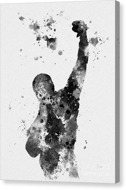 Sylvester Stallone Canvas Print - Rocky Balboa by Rebecca Jenkins