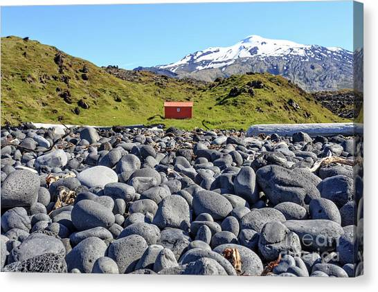 Lifeguard Canvas Print - Rocky Beach Iceland by Edward Fielding