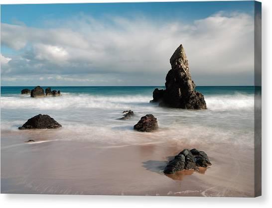 Rocky Beach On Sango Bay Canvas Print