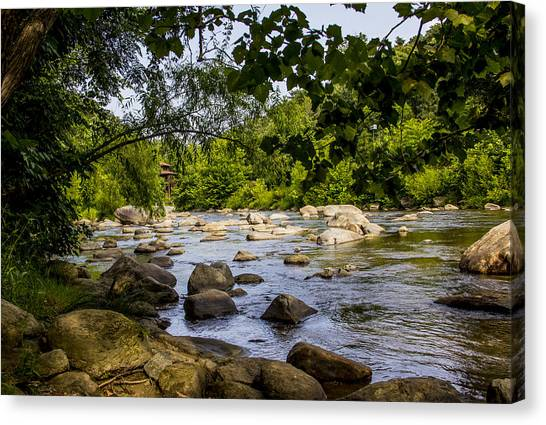 Rocky Broad River Canvas Print