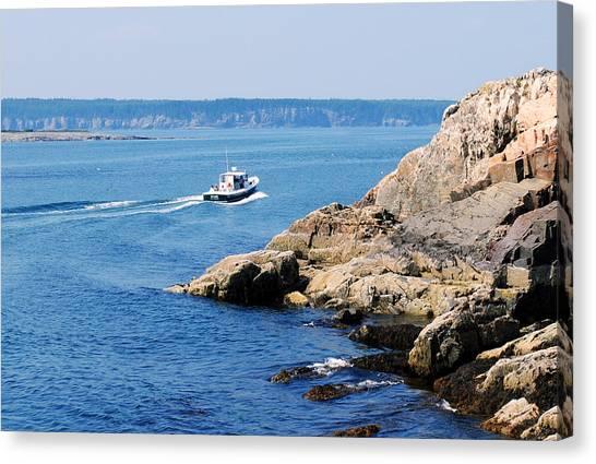Rocky Coast Downeast Canvas Print by Steven Scott