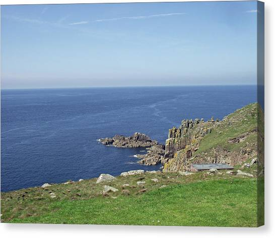 Rocky Coastline At Land's End Canvas Print