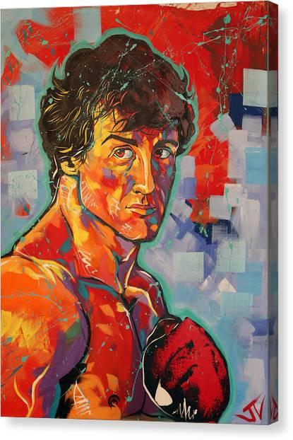 Sylvester Stallone Canvas Print - Rocky Balboa  by Jay V Art