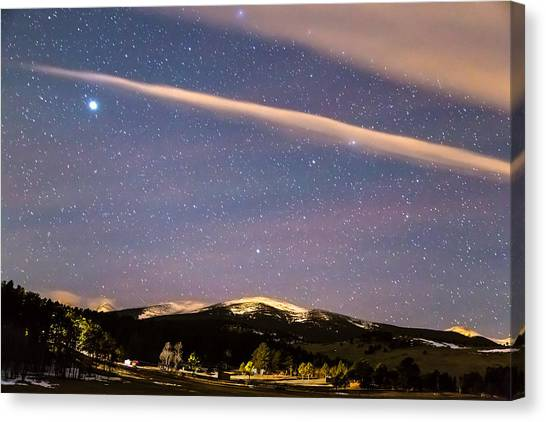 Sky Canvas Print - Rocky Mountain Cosmic Delight by James BO Insogna