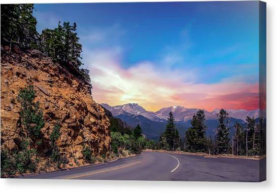 Rocky Mountain High Road Canvas Print