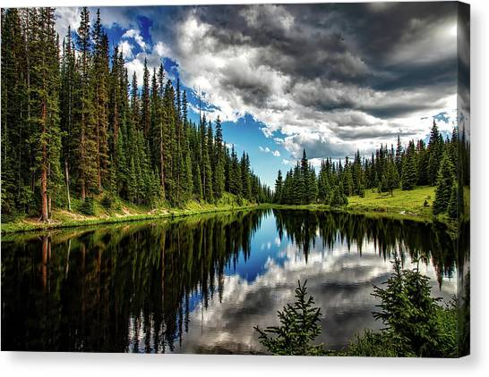Rocky Mountains Canvas Print - Rocky Mountain Lake Irene by David Dehner