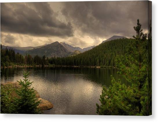 Rocky Mountain National Park Lake Canvas Print by Patrick  Flynn