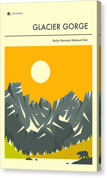 Glaciers Canvas Print - Rocky Mountain National Park Poster 2 by Jazzberry Blue