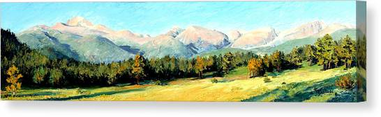 Rocky Mountain Panoramic Canvas Print