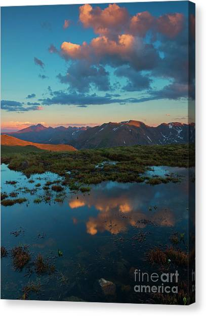 Colorado Rockies Canvas Print - Rocky Mountain Reflections by Mike Dawson