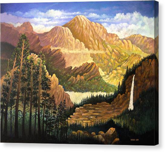 Rocky Mountain Sunrise Canvas Print by Donn Kay