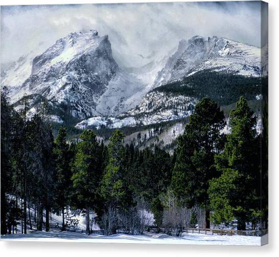 Rocky Mountain Winter Canvas Print
