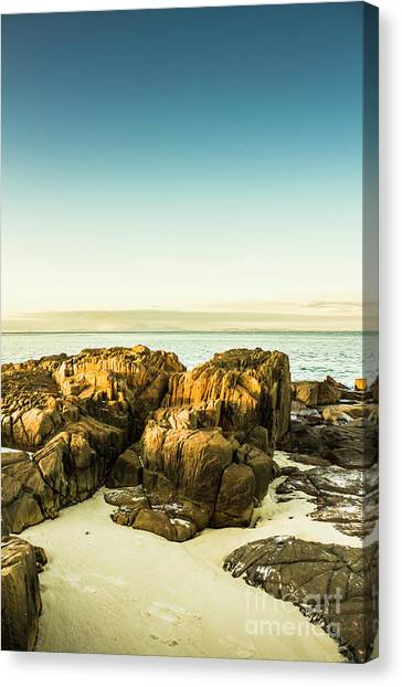 Boulder Canvas Print - Rocky Oceanscape by Jorgo Photography - Wall Art Gallery