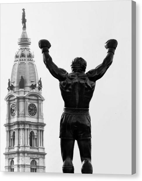 Sylvester Stallone Canvas Print - Rocky - Philly's Champ by Bill Cannon