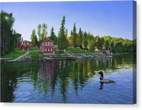 Rocky Shore Lodge Canvas Print