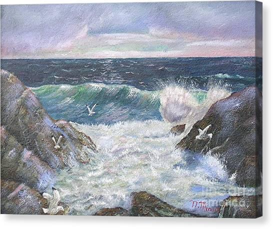 Rocky Shore Canvas Print by Nicholas Minniti