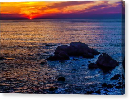 Sun Set Canvas Print - Rocky Sunset by Garry Gay