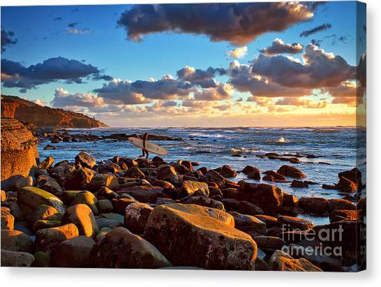 Rocky Surf Conditions Canvas Print