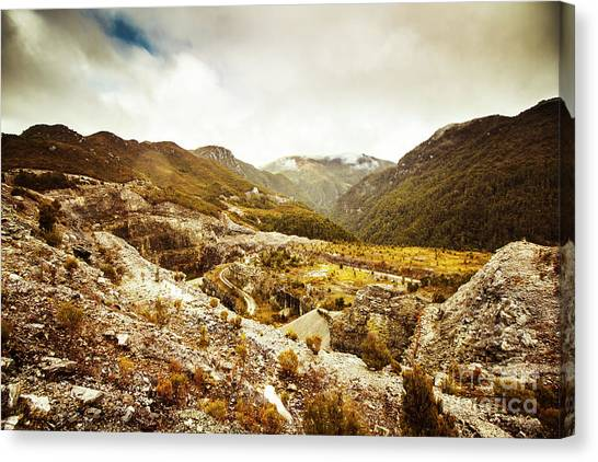 Geology Canvas Print - Rocky Valley Mountains by Jorgo Photography - Wall Art Gallery