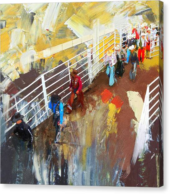 Corporate America Canvas Print - Rodeo 41 by Maryam Mughal