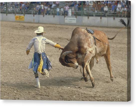 Rodeo Clown Canvas Print - Rodeo Clown by Jerry McElroy