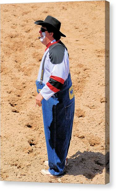 Rodeo Clowns Canvas Print by Cheryl Poland