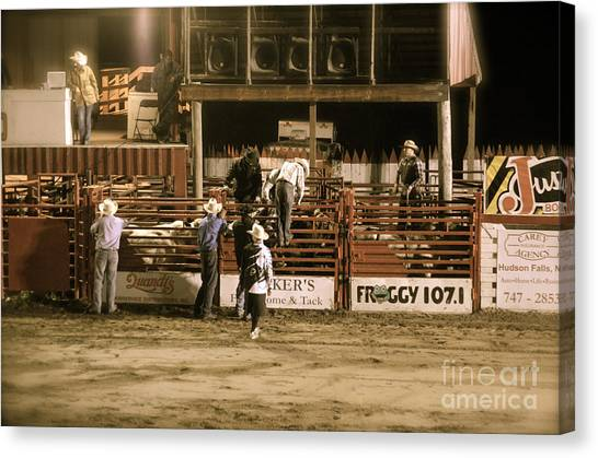 Rodeo Clown Canvas Print - Rodeo Night by Jason Freedman
