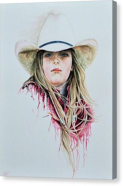 Ranch Dressing Canvas Print - Rodeo Red by Traci Goebel