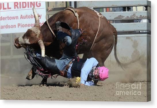 Bull Riding Canvas Print - Rodeo Stars 4 by Bob Christopher