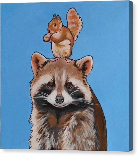 Rodney The Raccoon Canvas Print
