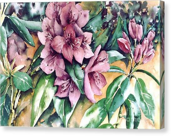 Rododendron Time Canvas Print by Marta Styk