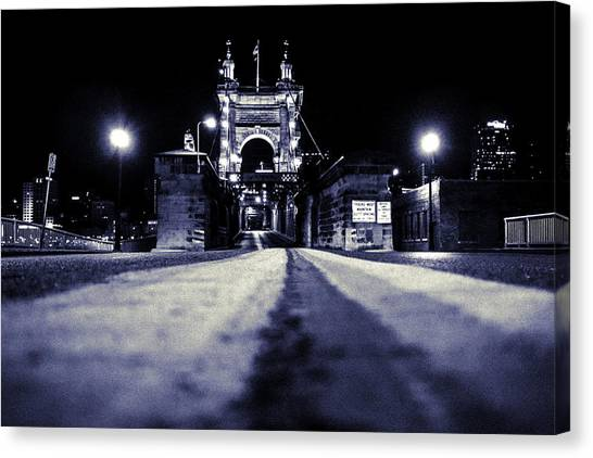 Roebling Suspension Bridge Canvas Print