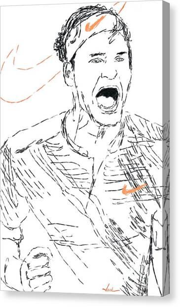 Roger Federer Canvas Print - Roger Federer by Jack Bunds