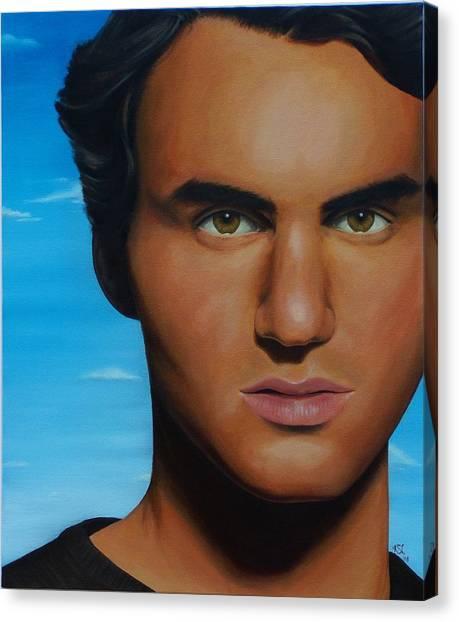 Roger Federer Canvas Print - Roger Federer by Kim Nelson