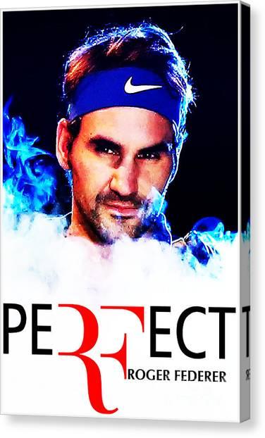 Roger Federer Canvas Print - Roger Federer by Masha Dulina