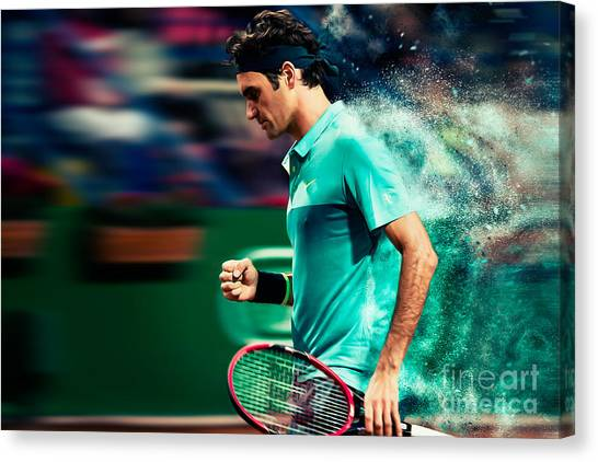 Roger Federer Canvas Print - Roger Federer by Yordan Rusev