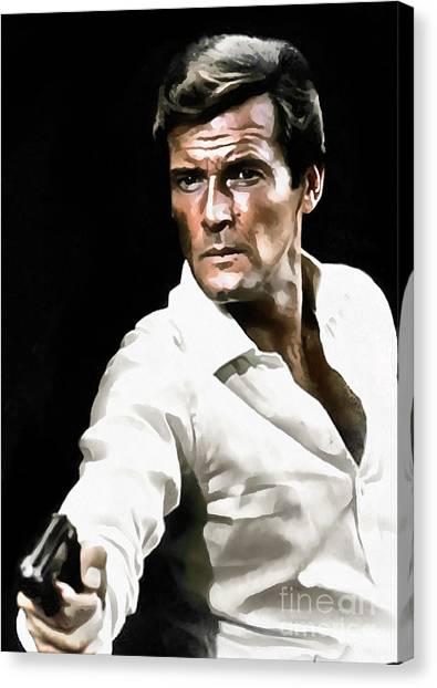 Roger Moore Canvas Print