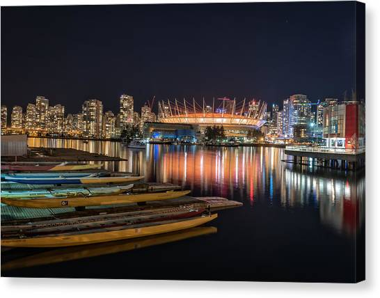 Vancouver Canucks Canvas Print - Rogers Arena Vancouver by Sabine Edrissi