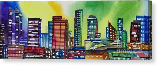 Western Conference Canvas Print - Rogers Place, Edmonton by Mohamed Hirji