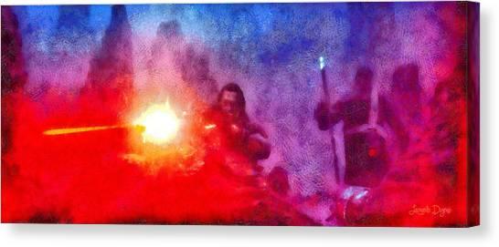 Terrorist Canvas Print - Rogue One Firing - Da by Leonardo Digenio