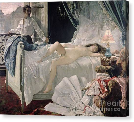 Erotic Canvas Print - Rolla by Henri Gervex